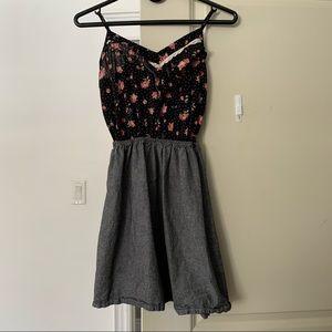 Lush floral spaghetti strap dress